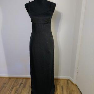Milagros Valentin black evening gown